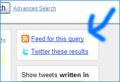 Twitter Search RSS Feed