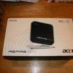 The packaging for Acer Revo 3610
